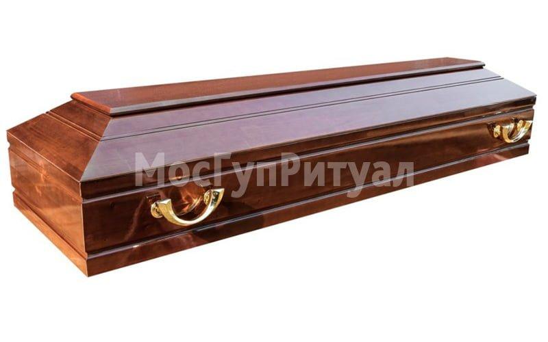Гроб лакированный №01